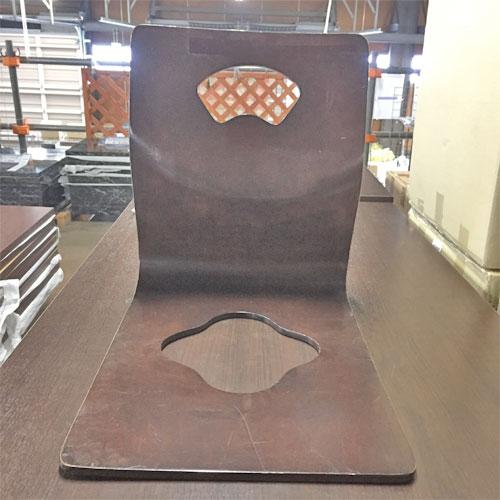 【中古】座椅子成型木製(焦茶) 幅370×奥行500×高さ440 【送料別途見積】【業務用】