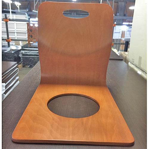 【中古】座椅子成型木製(茶) 幅360×奥行480×高さ420 【送料別途見積】【業務用】
