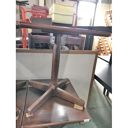 【中古】テーブル茶 木製脚 幅750×奥行550×高さ700 【送料別途見積】【業務用】