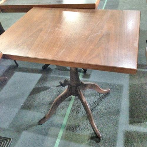 【中古】テーブル 茶 幅750×奥行600×高さ700 【送料別途見積】【業務用】