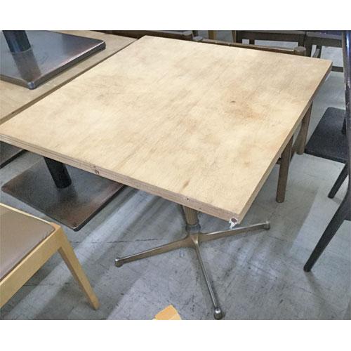 【中古】テーブル 木 幅650~700×奥行700~800×高さ665~710 【送料別途見積】【業務用】