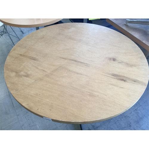 【中古】丸テーブル 幅1000×奥行1000×高さ700 【送料別途見積】【業務用】