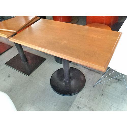 【中古】テーブル 茶 幅900×奥行500×高さ650 【送料別途見積】【業務用】