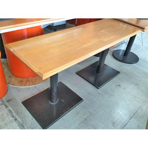 【中古】テーブル 茶 幅1350×奥行500×高さ650 【送料別途見積】【業務用】