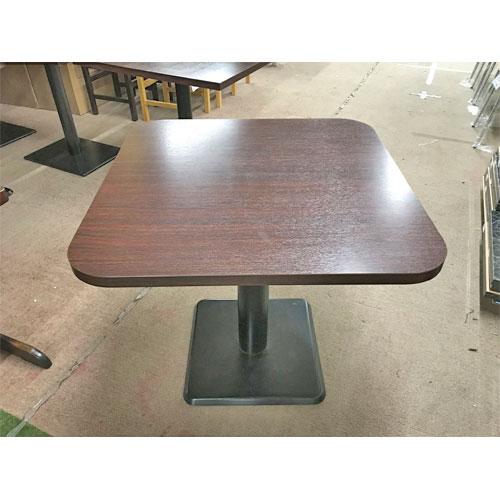 【中古】洋風テーブル 茶 幅750×奥行750×高さ700 【送料別途見積】【業務用】