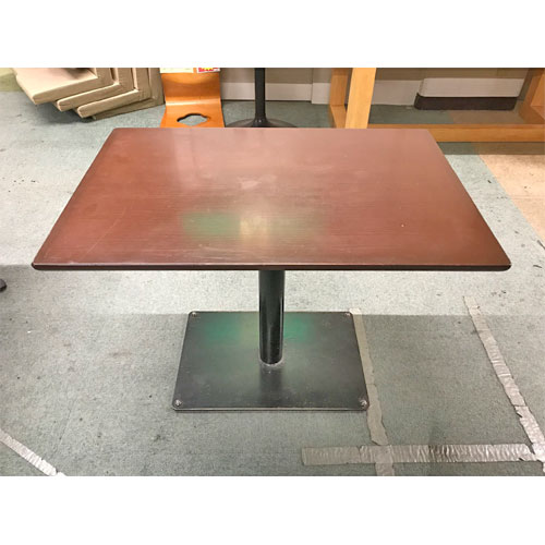 【中古】洋風テーブル 幅900×奥行600×高さ690 【送料別途見積】【業務用】