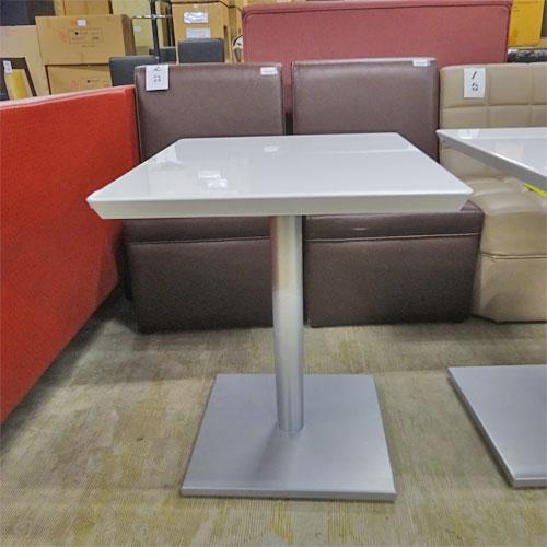 【中古】白天板ローテーブル 幅600×奥行500×高さ600 【送料別途見積】【業務用】