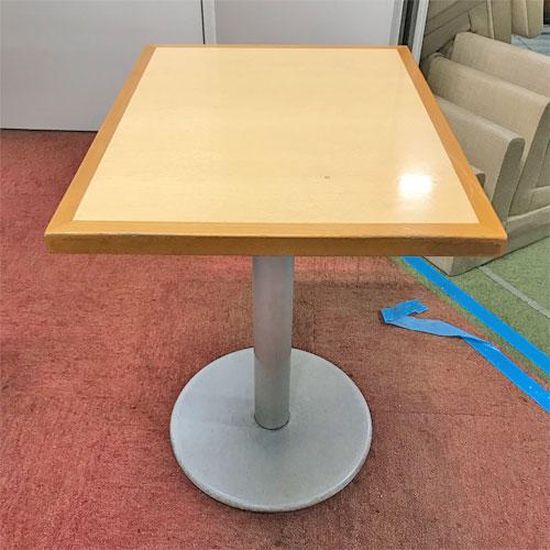 【中古】テーブル(白木) 幅500×奥行650×高さ730 【送料別途見積】【業務用】