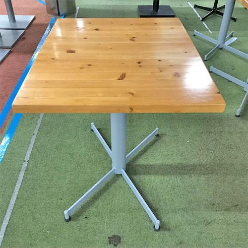 【中古】テーブル(天板ヒノキ) 幅600×奥行750×高さ710 【送料別途見積】【業務用】