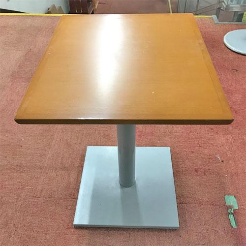 【中古】テーブル(ライトブラウン) 幅500×奥行600×高さ700 【送料別途見積】【業務用】