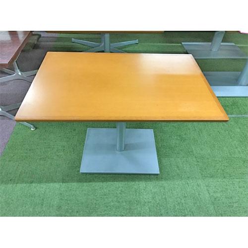 【中古】テーブル(ライトブラウン) 幅900×奥行600×高さ610 【送料別途見積】【業務用】