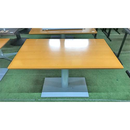 【中古】テーブル(ライトブラウン) 幅1200×奥行750×高さ700 【送料別途見積】【業務用】