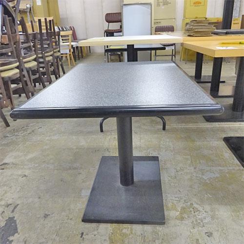 【中古】ローテーブル 天板黒 幅900×奥行600×高さ605 【送料別途見積】【業務用】
