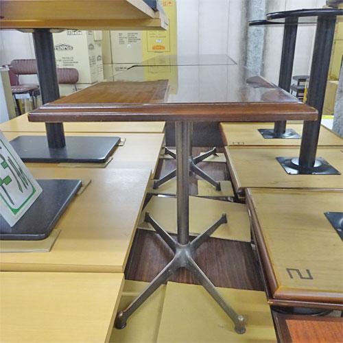 【中古】ローテーブル 天板木目 幅850×奥行450×高さ610 【送料別途見積】【業務用】