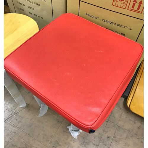 【中古】座布団(赤) 幅400×奥行400×高さ70 【送料無料】【業務用】