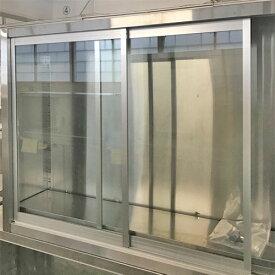 【中古】吊戸棚 ガラス扉 幅1200×奥行300×高さ900 【送料無料】【業務用】