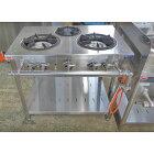 【中古】ガステーブル マルゼン MGT-096DS 幅900×奥行600×高さ800 LPG(プロパンガス) 【送料別途見積】【業務用】