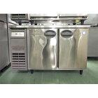 【中古】冷蔵コールドテーブル フクシマガリレイ(福島工業) YRW-120RM2-F 幅1200×奥行750×高さ800 【送料別途見積】【業務用】