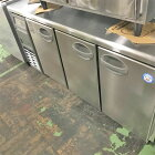 【中古】冷蔵コールドテーブル フクシマガリレイ(福島工業) YRC-150RE2-E 幅1500×奥行600×高さ800 【送料別途見積】【業務用】