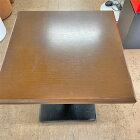 【中古】テーブル 2人掛け 幅580×奥行580×高さ620 【送料無料】【業務用】