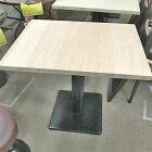 【中古】テーブル 天板生木 幅800×奥行600×高さ730 【送料無料】【業務用】