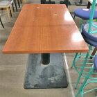 【中古】4人用テーブル ブラウン 幅1100×奥行650×高さ700 【送料無料】【業務用】