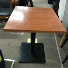 【中古】2人用テーブル 幅600×奥行650×高さ700 【送料無料】【業務用】
