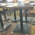 【中古】2人掛けテーブル シルバー脚 幅650×奥行650×高さ720 【送料無料】【業務用】