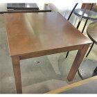 【中古】テーブル 木製 4本脚 幅800×奥行800×高さ700 【送料無料】【業務用】