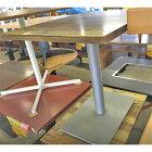【中古】2人掛けテーブル シルバー脚 幅600×奥行750×高さ700 【送料無料】【業務用】