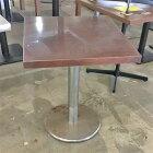 【中古】2人テーブル シルバー脚 幅600×奥行650×高さ730 【送料無料】【業務用】