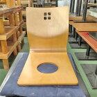 【中古】座椅子 白木 幅370×奥行480×高さ450 【送料無料】【業務用】