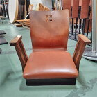 【中古】座椅子 肘付き 幅580×奥行470×高さ490 【送料無料】【業務用】