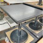 【中古】2人掛けテーブル(木天板) 幅600×奥行700×高さ705 【送料無料】【業務用】