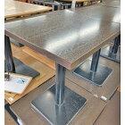 【中古】2人掛けテーブル 幅600×奥行600×高さ720 【送料無料】【業務用】