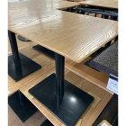 【中古】2人掛けテーブル 幅600×奥行750×高さ730 【送料無料】【業務用】