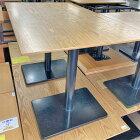 【中古】4人掛けテーブル 幅1200×奥行750×高さ730 【送料無料】【業務用】