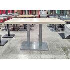 【中古】洋風テーブル 白 幅1200×奥行750×高さ700 【送料無料】【業務用】
