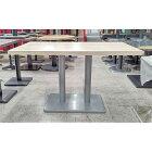 【中古】洋風テーブル 白 幅1050×奥行750×高さ700 【送料無料】【業務用】