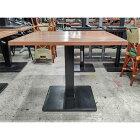 【中古】洋風テーブル 茶 幅900×奥行900×高さ750 【送料無料】【業務用】