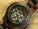 エグゼクティブモデル No.202木製腕時計(サンダル&ダークサンダルウッド)1971年創業のカナダ木工専門技を結集し、…