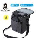 ベアロング カメラバック 一眼レフカメラ ショルダーバッグ 軽量 撥水加工/防水ファスナー CAMERA BAG MINI BRG-049