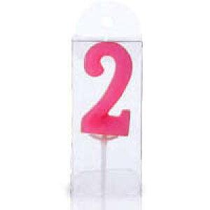 ナンバーキャンドル【2】1個入 誕生日ケーキ バースデーケーキ プレゼント ギフト 記念日 子供 孫 まご 彼女 お祝い バースデー ろうそく ロウソク 蝋燭 燭