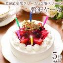 誕生日ケーキ 誕生日プレゼント ギフト 本州 送料無料 苺 生クリームたっぷりショート...