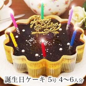 【あす楽 12時まで】誕生日ケーキ 送料無料 チョコ バースデーケーキ 誕生日プレゼント 大人 子供 翌日 配送 冷凍 解凍8時間【星空のショコラ 5号 4-6人分】