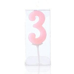 ナンバーキャンドル【3】1個入 誕生日ケーキ バースデーケーキ プレゼント ギフト 記念日 子供 孫 まご 彼女 お祝い バースデー ろうそく ロウソク 蝋燭 燭
