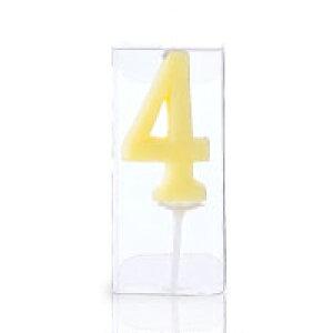 ナンバーキャンドル【4】1個入 誕生日ケーキ バースデーケーキ プレゼント ギフト 記念日 子供 孫 まご 彼女 お祝い バースデー ろうそく ロウソク 蝋燭 燭