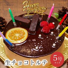 【あす楽 12時まで】誕生日ケーキ チョコ バースデーケーキ 送料無料 チョコ バースデーケーキ 誕生日プレゼント 大人 子供 解凍8時間【生チョコ トルテ 5号 4-6人分】
