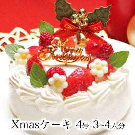 クリスマスケーキ 予約 2019ホワイトベリー4号 Ver.2 2?3人前誕生日ケーキ バースデーケーキ ギフト 生クリーム 苺 フルーツ たっぷり ショートケーキかわいい おしゃれ 女性 女友達 子供宅配 翌日 配送日指定