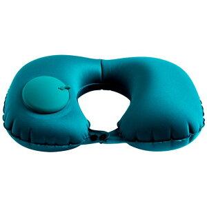 U型 ネックピロー 空気枕 手動プレス式 エアーピロー キャンプ枕 首枕